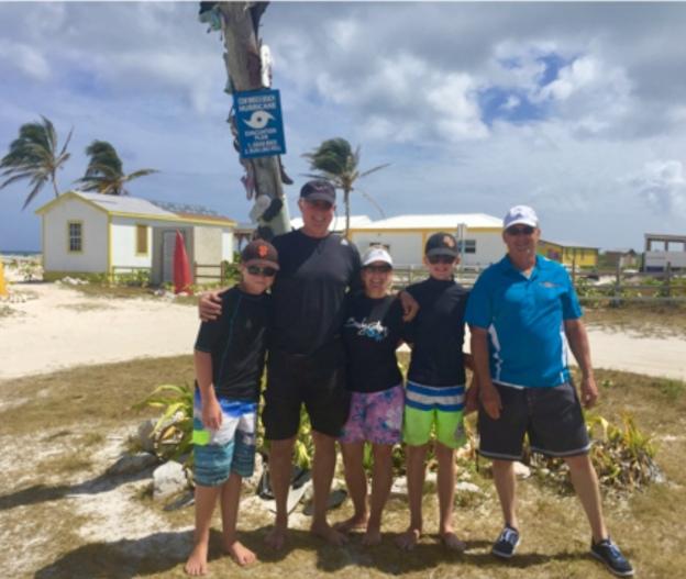 Ronan, Randy, Theresa, Ryan & Scott, Cow Wreck Beach, Anagada, BVIs (March 2018)
