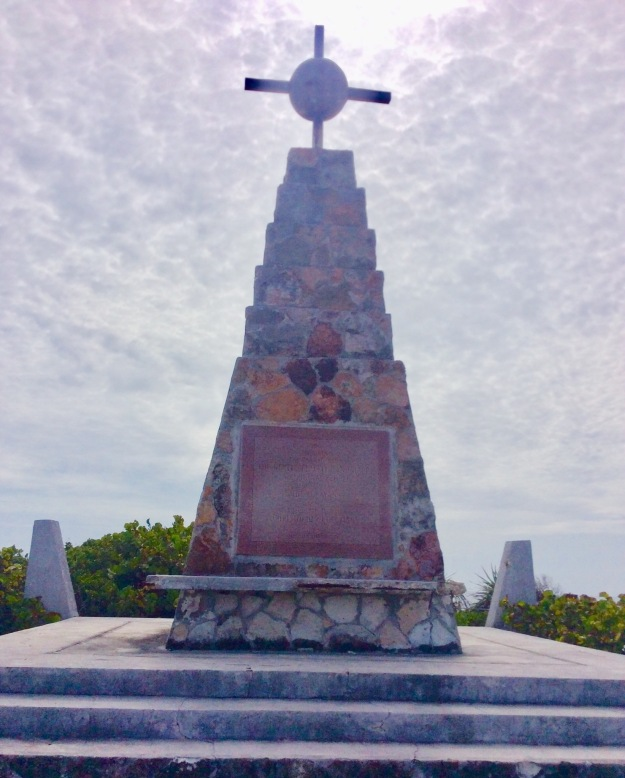 Christopher Columbus monument, Long Island, Bahamas