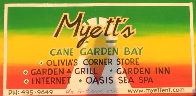 Myett's is open in Cane Garden Bay, BVIs (March 2018)