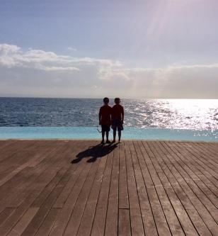 Ronan & Ryan, Ocean Club infinity pool, Puerto Bahia Marina, Samana, Dominican Republic (2015)