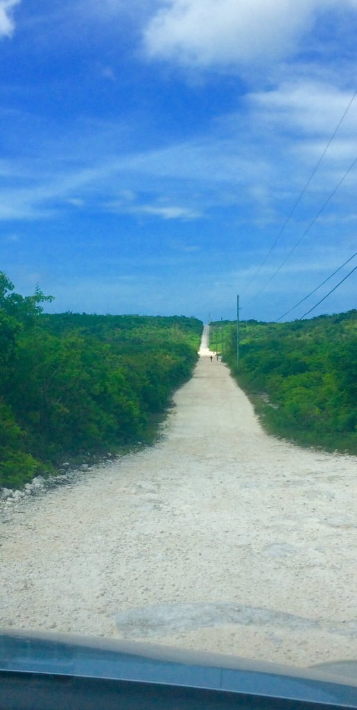 Road to Dean's Blue Hole, Long Island, Bahamas