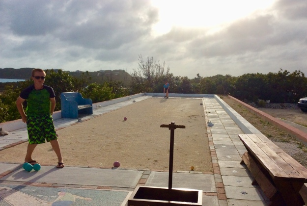 R&R bocce ball at Southside Marina, Providenciales Turks & Caicos