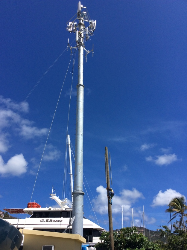 New cell tower, Nanny Cay, Tortola, BVI (March 2018)