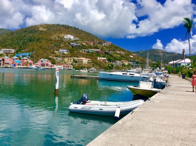 Old marina docks at Nanny Cay Marina, Tortola, BVI (March 2018)