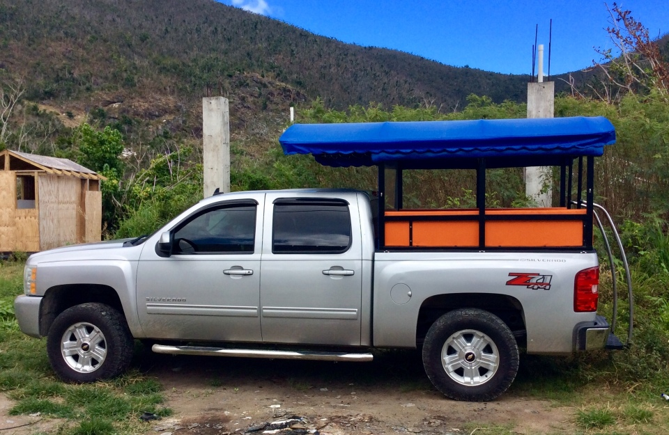 New tour taxi, Great Harbor, Jost Van Dyke, BVIs (March 2018)