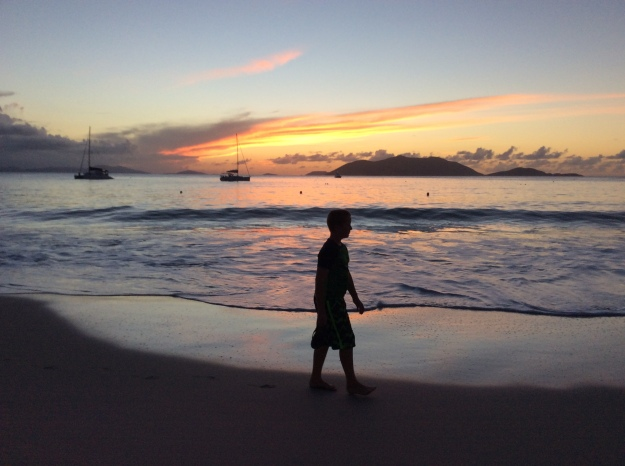 Ronan, sunset, Cane Garden Bay, Tortola, British Virgin Islands