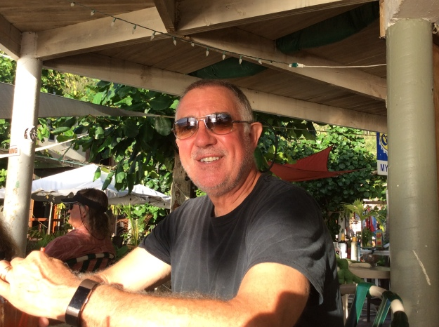 Randy at Myett's Restaurant, Cane Garden Bay, Tortola, BVIs (March 2018)