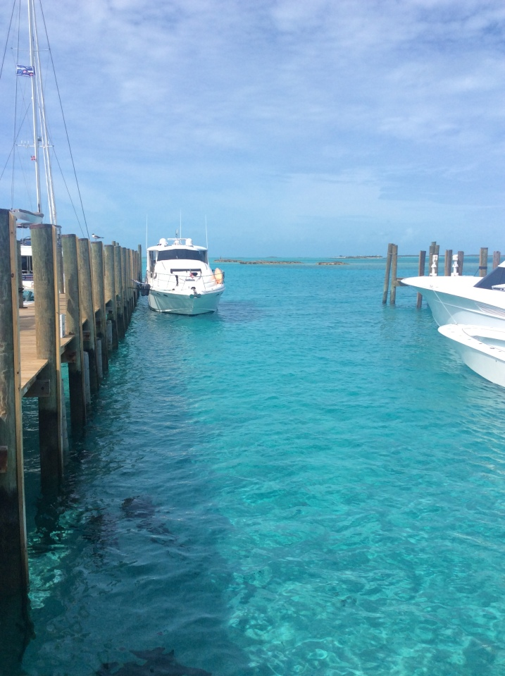Pilots' Discretion in her slip at Staniel Cay Yacht Club