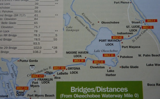 Okeechobee Waterway & Locks Map