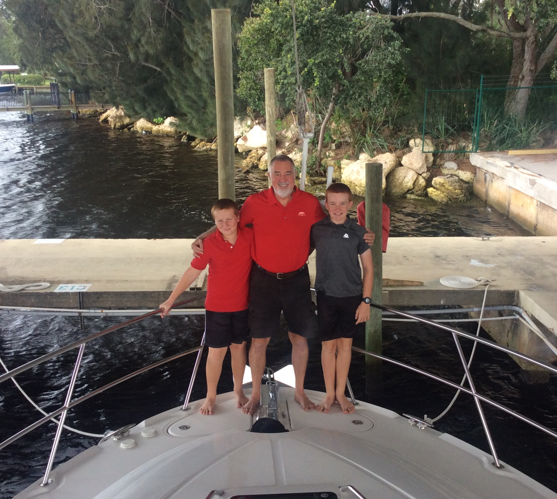 Ronan, Randy & Ryan, back where it all started, Port Tarpon