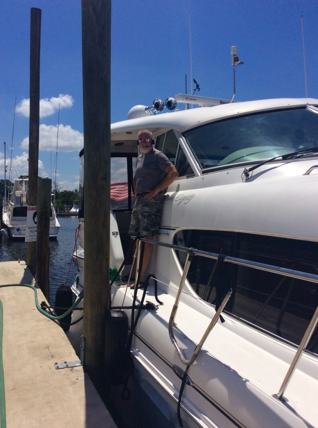 Randy refueling, Port Tarpon Marina