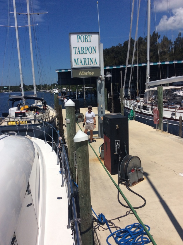 Theresa refueling, Port Tarpon