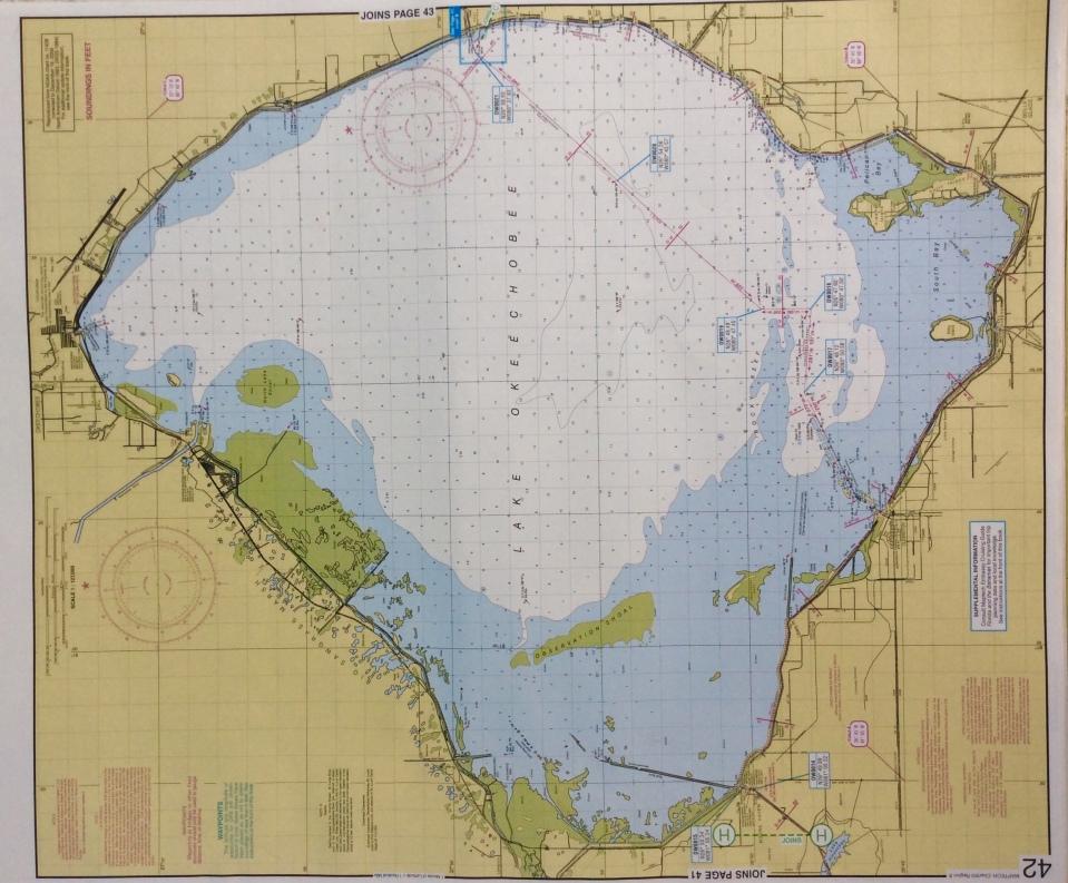 Lake Okeechobee Chart