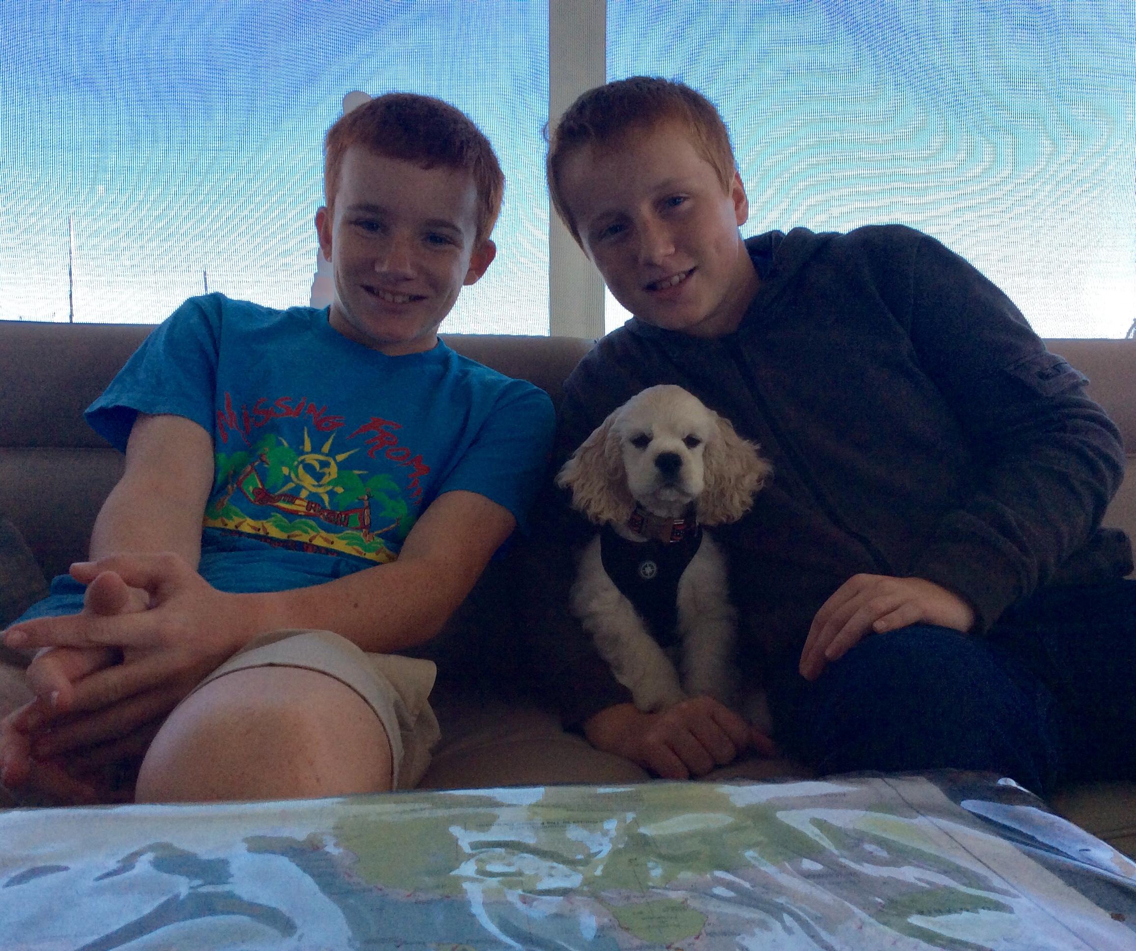 Ryan, Marlow & Ronan aboard Pilot's Discretion