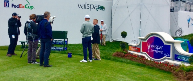 Reigning PGA Valspar champion, invites Ronan to play the 18th hole with him and Sergio Garcia (2019 PGA Valspar Championship)