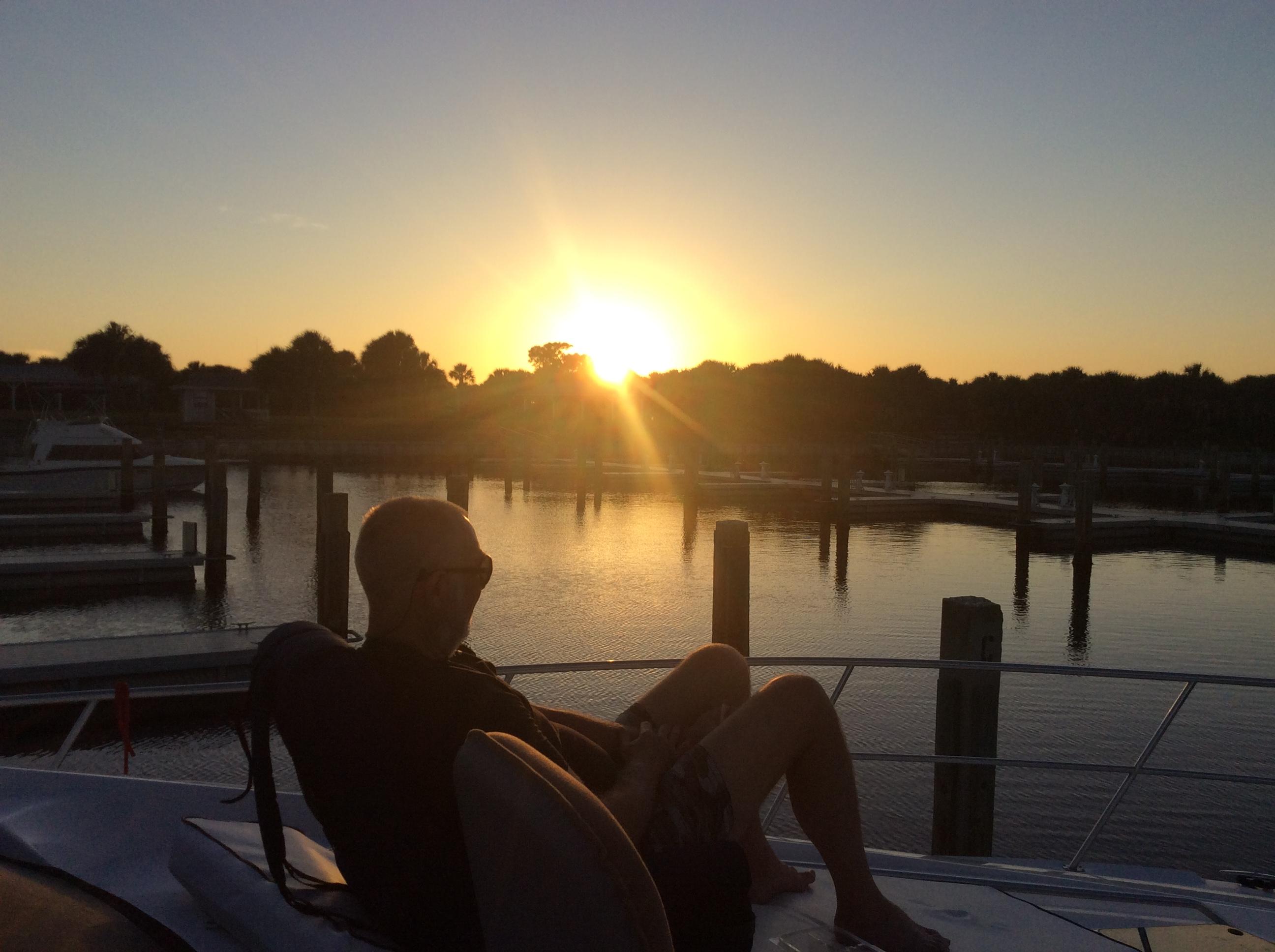 Randy on the bow, Caladesi Island, FL (Oct. 2019)