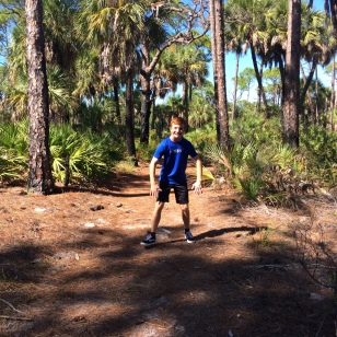 Ryan on the nature trail hike, Caladesi Island State Park (Nov. 2019)