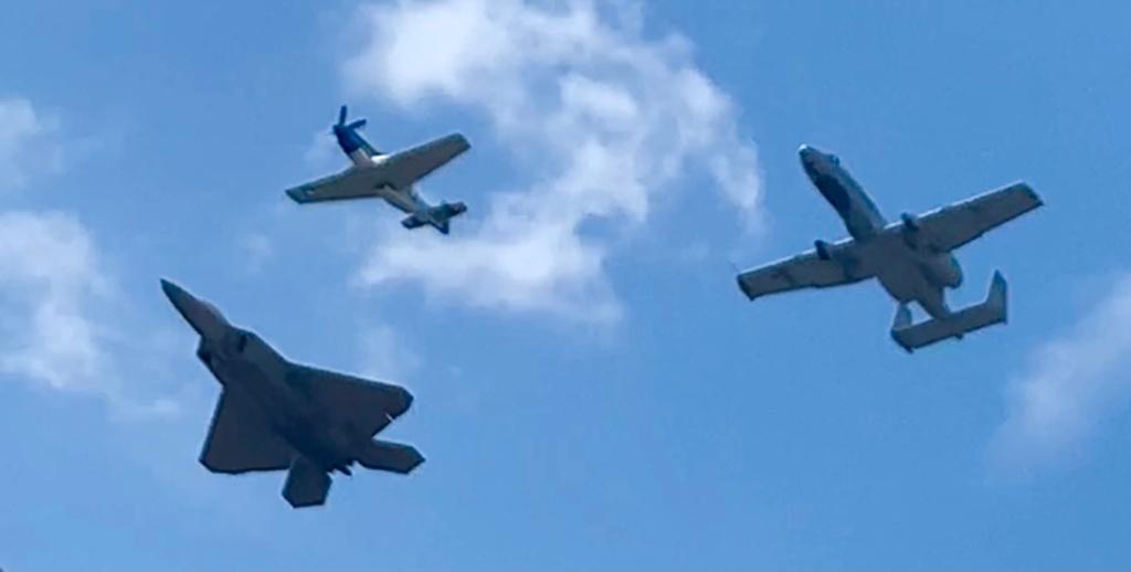 F-22 Raptor, P-51 Mustang, A-10 Thunderbolt